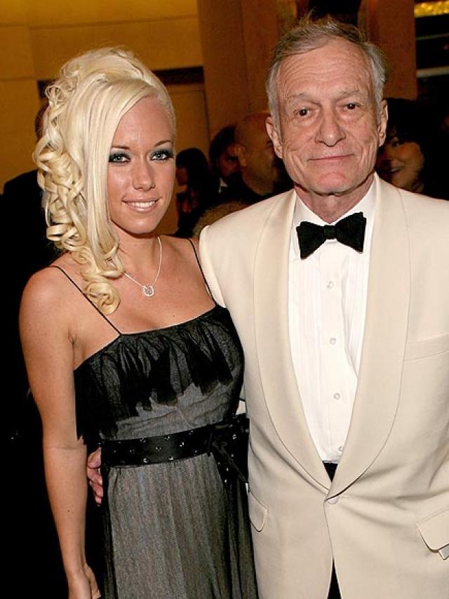 Они встретились на вечеринке в честь дня рождения Хью: красотка выступала на подиуме, покрытая лишь слоем краски.