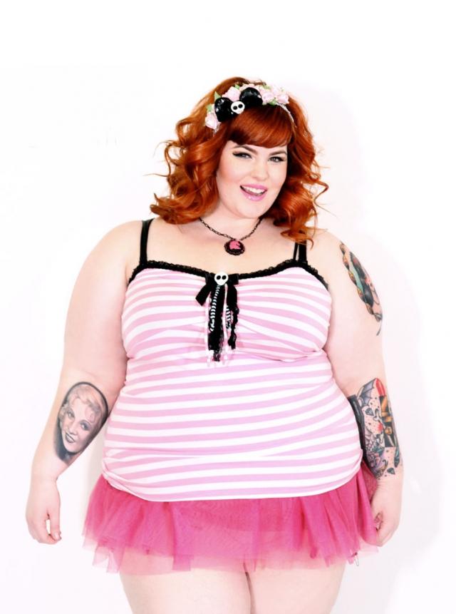 Тесс Холлидей - самая полная в мире модель. Девушка весит 155 килограмм.