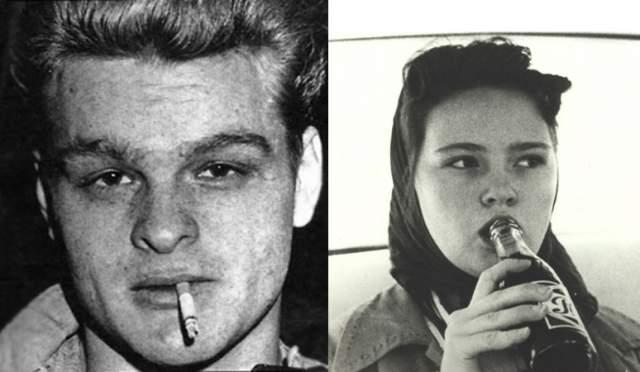 Чарльз Старквезер и Кэрил Энн Фьюгейт. Пара познакомилась в 50-х годах 20 века. Фьюгейт было 14, и ее отчим и мать не одобряли отношения с 19-летним Старквезером. Тогда Старквезер застрелил мать и отчима Фьюгейт и задушил ее младшую сестру. После этого возлюбленные отправились в путешествие по США, грабя и убивая всех, кого встречали на пути.