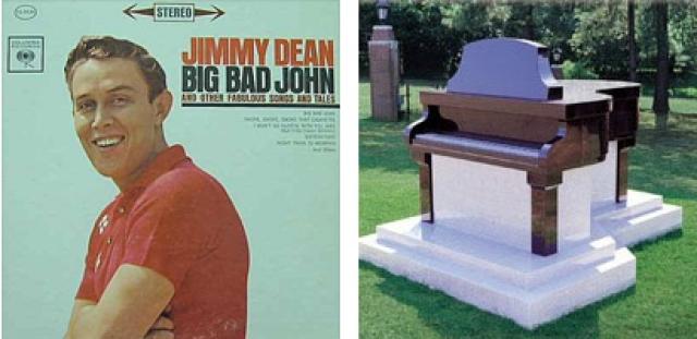 """Дин приобрел за $350 000 """"саркофаг"""" в форме пианино за несколько лет до того, как умер, и поручил своим близким, чтобы они """"уложили его после кончины, чтобы отдохнуть в нем"""" ."""