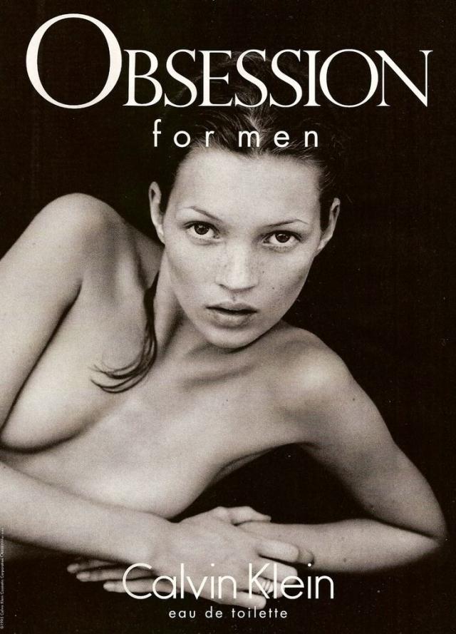 Например, в рекламе аромата Obsession.