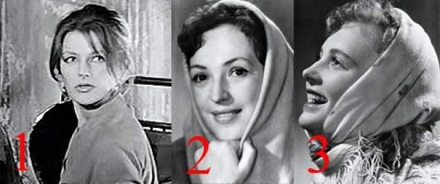 Роль Анфисы, которую получила Светлана Дружинина (1), примеряли также Клара Лучко (2) и супруга Алексей Рыбников Алла Ларионова (3).