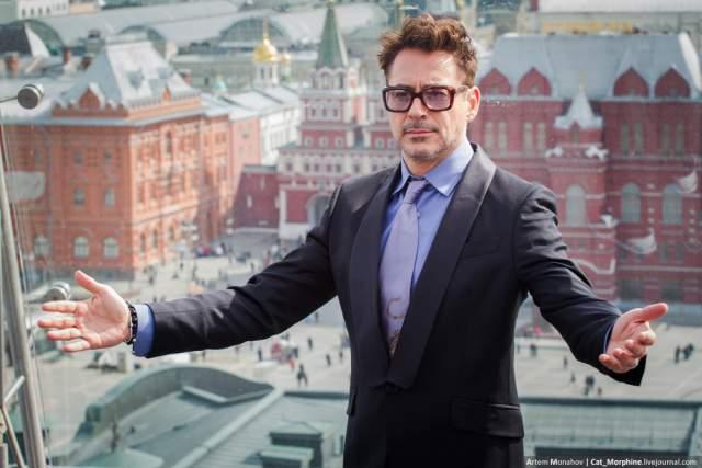 """2012 год, Роберт Дауни-младший на премьере фильма """"Мстители""""."""