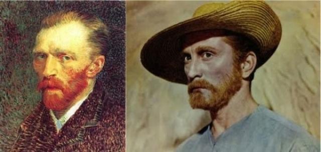 "Винсент Ван Гог и Керк Дуглас , ""Жажда жизни""."