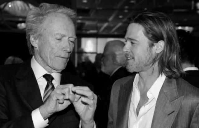 Клинт Иствуд и Брэд Питт.