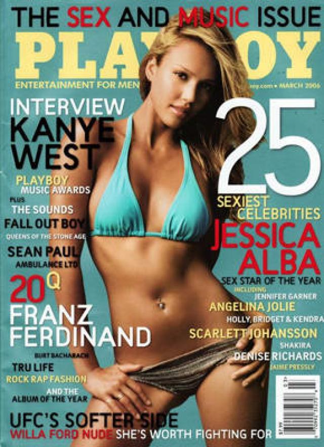 В 2006 году актриса Джессика Альба была выбрана Playboy самой сексуальной знаменитостью года. Девушка позировать обнаженной не захотела, а на обложку разместили ее старое фото. Скандал был вызван тем ,что для читателей фото на обложке - обещание того, что внутри журнала их ждут более откровенные фото. А их не было.