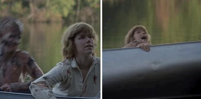 """""""Пятница, 13-е"""" . Выпрыгнувший из воды Джейсон в финале фильма спровоцировал выброс адреналина у многих зрителей."""