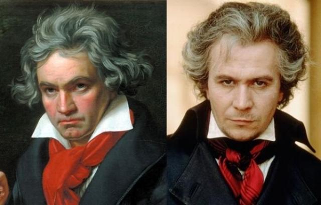"""Людвиг ван Бетховен и Гэри Олдман , """"Бессмертная возлюбленная""""."""