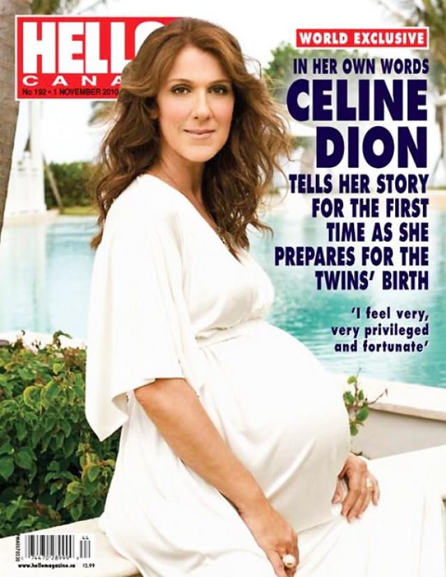 Селин Дион. Певице беременность также далась нелегко.