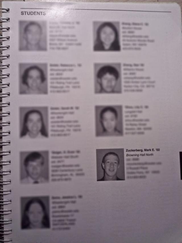 """Гарвард в то время не имел студенческого """"альбома"""" (каталог с фотографиями и основной информацией)."""