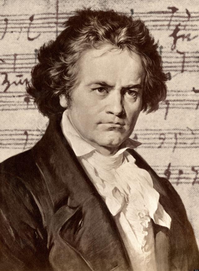 Людвиг Ван Бетховен. О странностях композитора ходили легенды, которые распространяли его слуги за спиной странного хозяина. Начнем с того, что часто он бывал небритым, поскольку считал, что бритье препятствует творческому вдохновению.