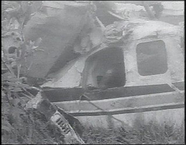 Через 4 дня, 20 июля в 22:40 поисковые службы обнаружили обломки самолета в четверти мили от его последнего радиолокационного контакта.