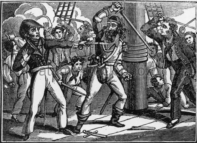 Бесчинства пирата против соотечественников-англичан и грабеж им английских колоний, привели к тому, что власти объявили охоту за Черной бородой. В ноябре 1718 года пират был настигнут властями и в ходе битвы был убит: ему отрубили голову, а тело подвесили на рее.