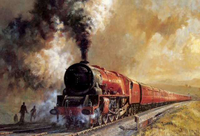 """""""Я услышал какой-то неясный гул. За черным дымом паровоза стало вдруг ясно видно молочно-белый туман, который выползал из жерла туннеля. Этот туман, словно волна, накрывал паровоз. За ним в тумане растворился и первый вагон нашего злополучного поезда. Мне стало жутко"""", - сказал Саджино."""
