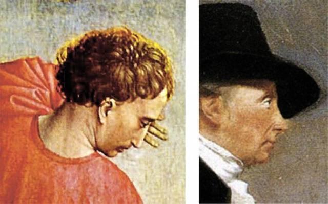 А это фрагменты картин голландского художника Рогира ван Дер Вейдена (1440 год) и шотландского живописца Генри Реберна (1794 год).