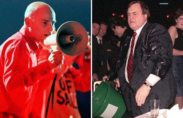 В феврале 1998 года член группы «Chumbawumba» Дэнберт Нобакон бросил в тогдашнего заместителя премьер-министра Великобритании Джона Прескотта ведро с водой на церемонии вручения наград «Brit Awards» в знак протеста против отношения лейбористов к бастующим рабочим в Ливерпуле.