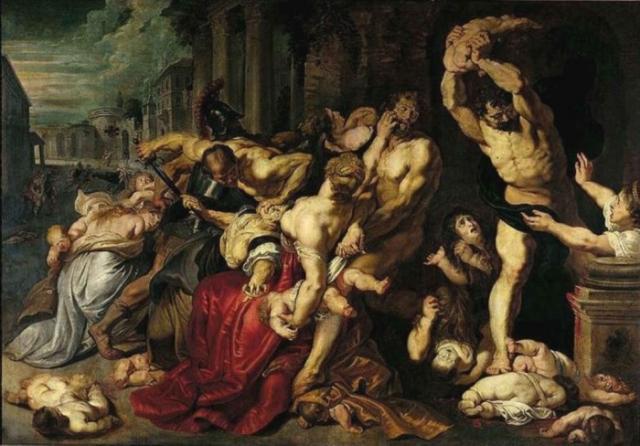 «Избиение младенцев» Это выдающееся произведение искусства Петера Пауля Рубенса, состоящее из двух картин, было создано в 1612, как полагают, под влиянием работ известного итальянского художника Караваджо.