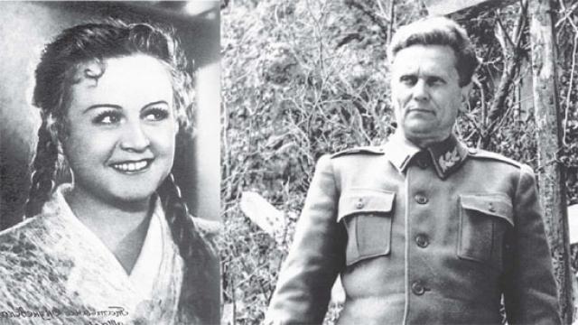 Когда же актриса приняла ухаживания президента Югославии Иосипа Броз Тито, возмущенный Лаврентий Берия, а также некоторые работники КГБ арестовали Окуневскую, даже не предъявив ей ордер на арест.
