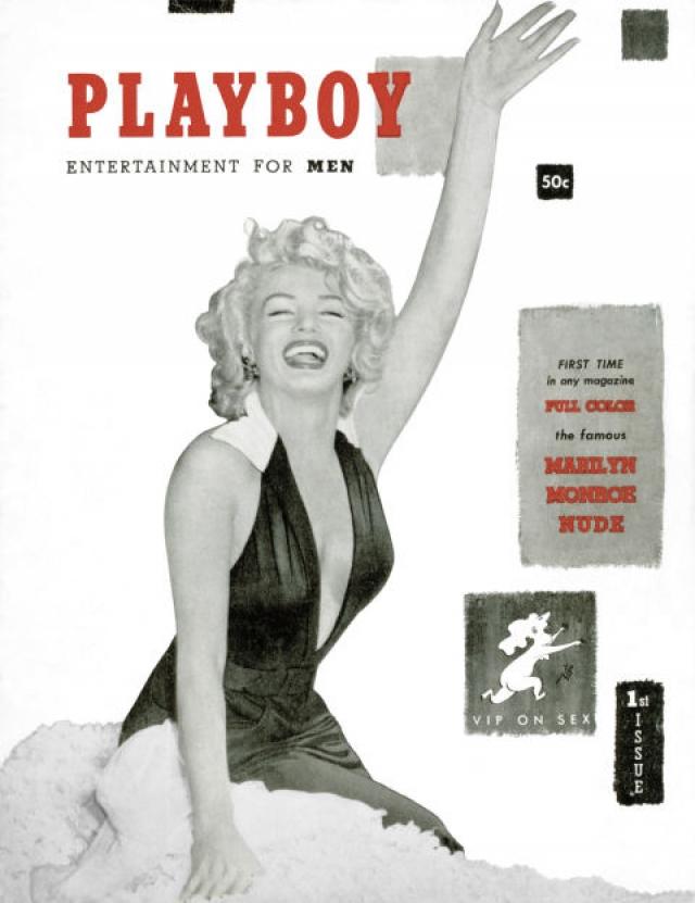 Playboy, декабрь 1953. Первый номер журнала с Мерлин Монро на обложке.