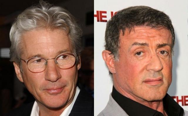 """Сильвестр Сталлоне и Ричард Гир. Вражда между актерами началась аж в 1973 году на съемках фильма """"Лорды Флэтбуша""""."""