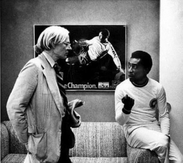 Энди Уорхол и Пеле, 1977