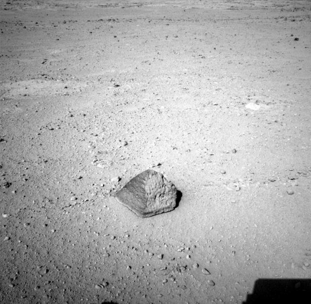 """""""Пирамида"""" на Марсе - камень, получивший название Jake Matijevic."""