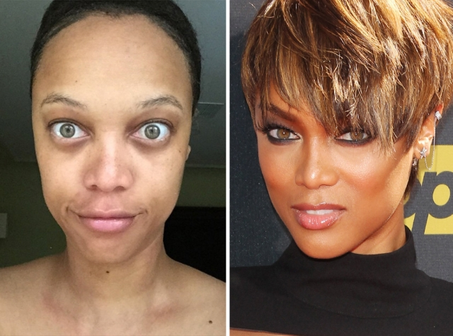 """Тайра Бэнкс. Супермодель решила сама """"приоткрыть свою личину"""" и выложила снимок без макияжа в свой Инстаграм."""