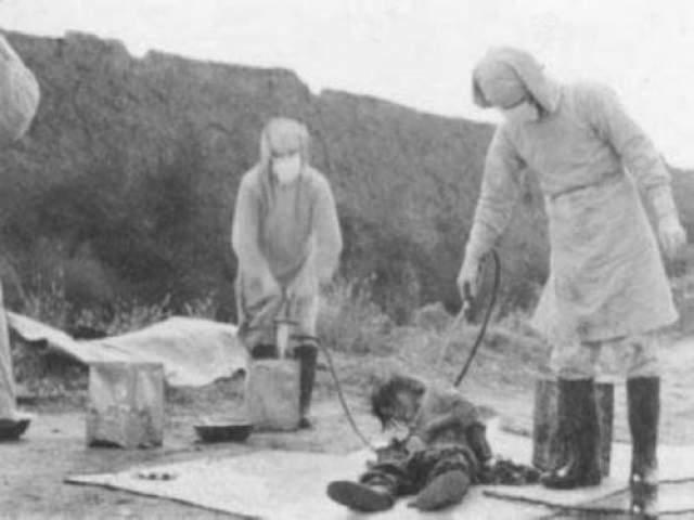 Отряд 731 Это специальный отряд вооруженных японских сил, который занимался исследованиями в области биологического оружия с целью подговори к ведению бактериологической войны, но опыты они производили на живых людях (военнопленных и похищенных).
