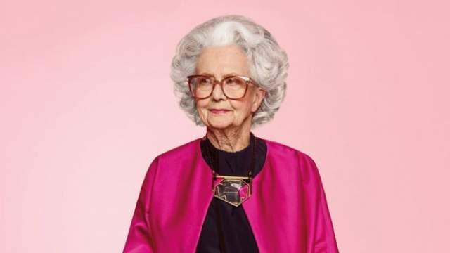 """Бо Гилберт, 1916 г.р. Первая и пока единственная в мире модель, которая сделала карьеру необычайно поздно – в 100 лет! Ее пригласили сняться в праздничном номере британского """"Vogue"""", посвященного 100-летию издания."""