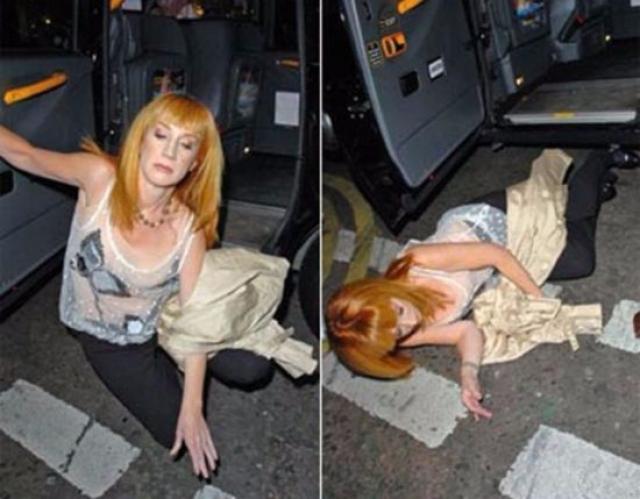 Кэти Гриффин после вечеринки не смогла выйти из машины.