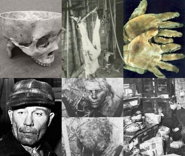 Эдвард Гин занимался кровавым рукоделием, мастеря поделки и одежду из костей и кожи выкопанных на кладбище трупов, а позже и собственных жертв .