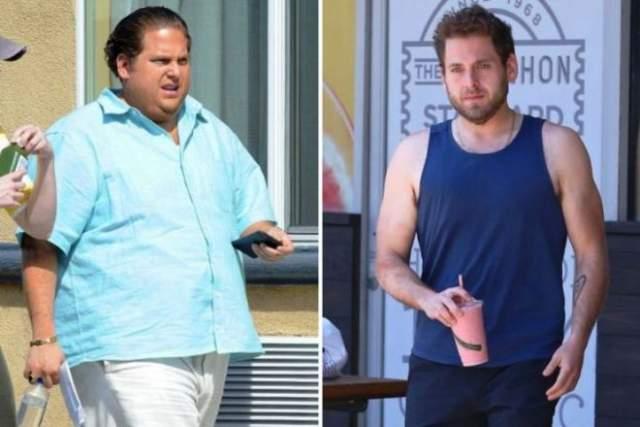 """Вес Джоны Хилла последние годы постоянно меняется, от худосочности до обычной сочности. В 2014 году он похудел на 40 кг, чтобы сыграть в комедии """"Мачо и ботан — 2"""", а в 2016-м поправился на 20 кг для роли в фильме """"Парни со стволами""""."""
