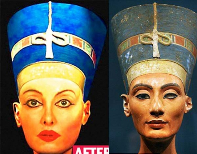Найлин Намита - Нефертити. Чтобы стать похожей на египетскую царицу, женщина потратила более 250 тыс. долларов.