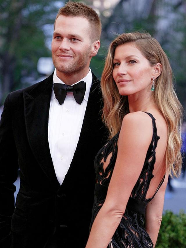 Жизель Бундхен и Том Брэди. В начале 2009 года бразильская модель вышла замуж за футболиста Тома Брэди.