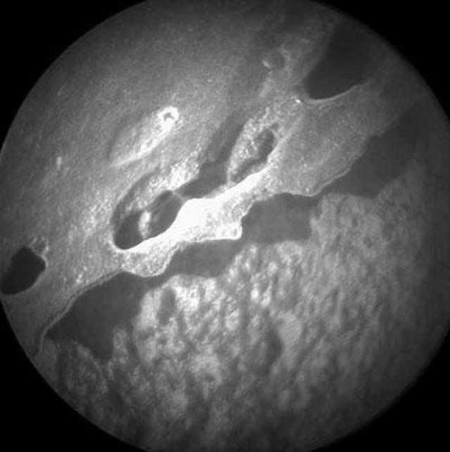 Крупный план горной породы Марса, 4 июля 2013 года.