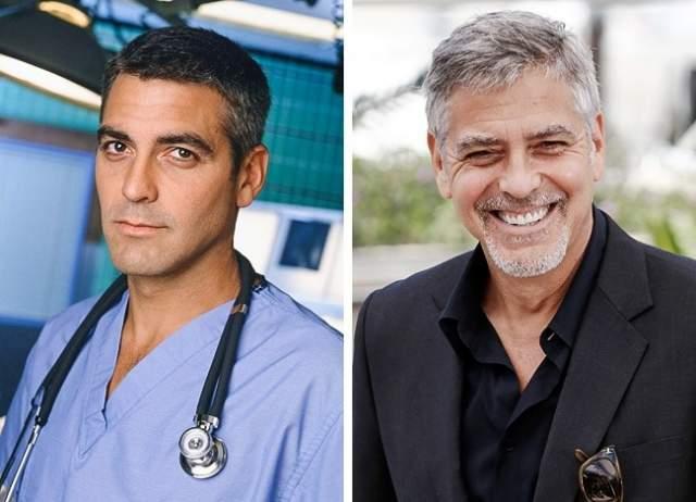 """Джордж Клуни Известность Джорджу Клуни принесла роль доктора Росса в сериале """"Скорая помощь"""". Через год после начала сериала Клуни исполнил одну из главных ролей в культовой картине Роберта Родригеса """"От заката до рассвета"""". После этого фильмы с участием актера продолжали выходить один за другим, неизменно пользуясь популярностью."""