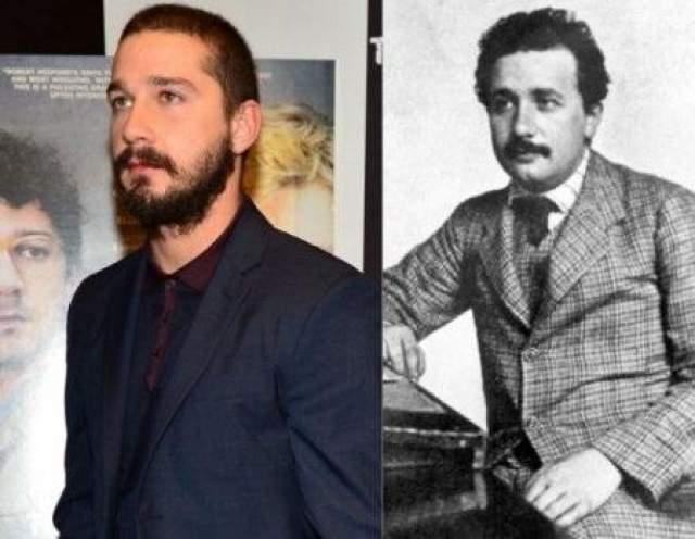Шиа ЛаБаф и Альберт Эйнштейн