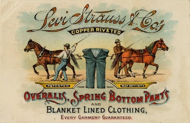 """Брюки мгновенно раскупили. Ливай и его зять Дэвид Стерн открыли в Сан-Франциско галантерейный магазин. В 1853 году Штраусс основал фирму """"Levi Strauss & Co."""". Вместо парусины штаны начали шить из более мягкой французской ткани, которую называли """"Деним""""."""