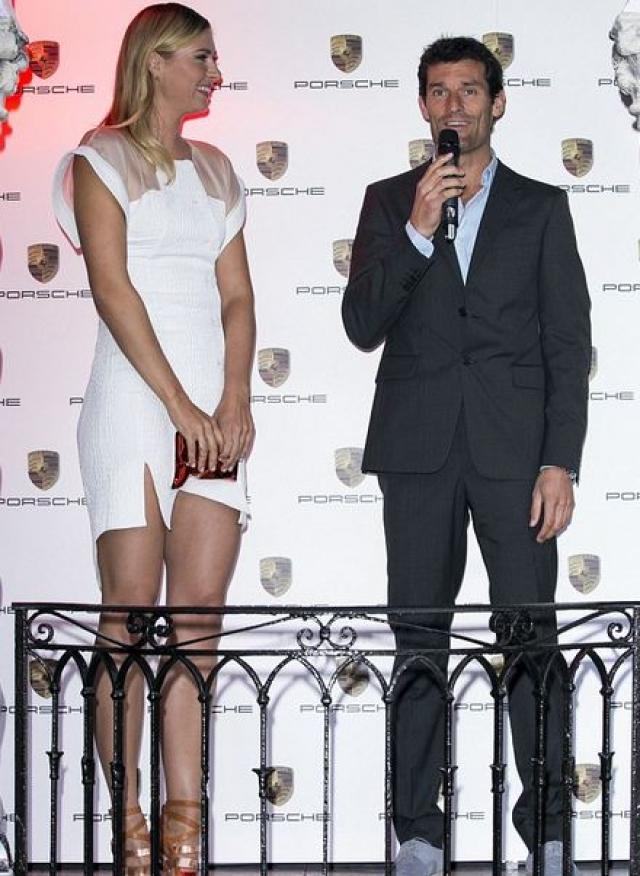 Шарапова появилась на торжественном открытии турнира в компании Марка Уэббера, при этом Димитрова на вечеринке не было.