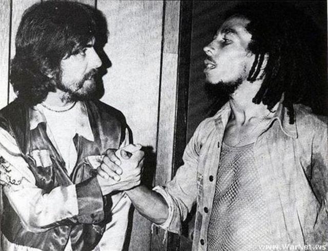 Джордж Харрисон и Боб Марли.
