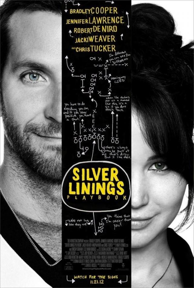 """""""Мой парень- псих"""" . Довольно оригинальную комедию с названием """"Silver Linings Playbook"""" - """" Пьеса со счастливым концом"""" почему-то решили перевести в духе подростковых комедий."""