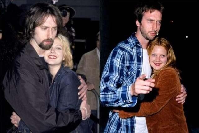 До этого, когда девушке было 16, она была помолвлена с продюсером Лиландом Хейвордом, а после, с 2001 по 2002 год, Бэрримор была женой комедийного актера Тома Грина (на фото).В 2012 году вступила в брак с арт-консультантом Уиллом Копелманом, с которым рассталась в 2016 году.