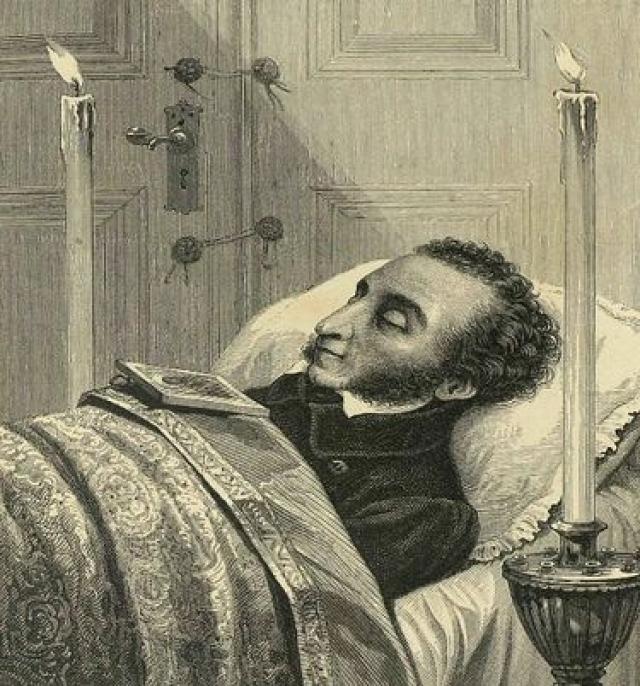 Однако, получив смертельное ранение, российский гений скончался через два дня.