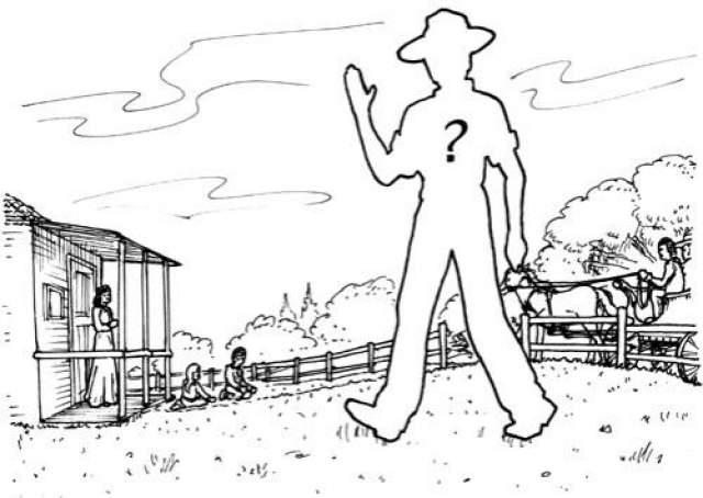 В это же время, к дому стал приближаться багги друга их семьи, Августа Пека. Джон развернулся, чтобы вернуться к дому, увидел багги помахал рукой. Спустя несколько секунд, Дэвид Лэнг, прямо на глазах своей жены, детей и друга - исчез.