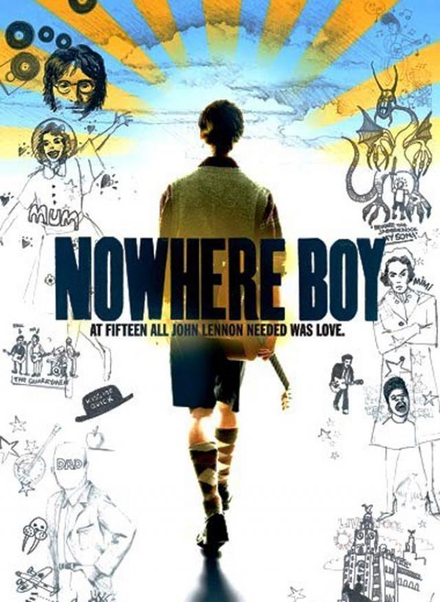 """""""Стать Джоном Ленноном"""" . Еще один биографический фильм в оригинале называется """"Nowhere boy"""" - """" Мальчик из ниоткуда""""."""