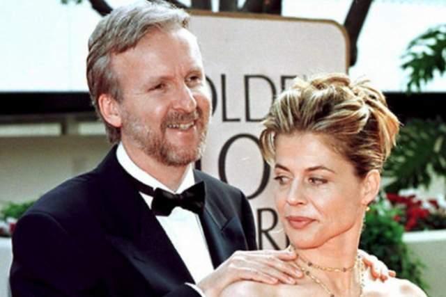 Вспыхнувший роман стал причиной развода режиссера Кэтрин Бигелоу. У пары в 1993 году родилась дочь, которую Линда и Джеймс назвали Жозефиной. В 1997 году знаменитости узаконили отношения, но уже спустя 2 года развелись.