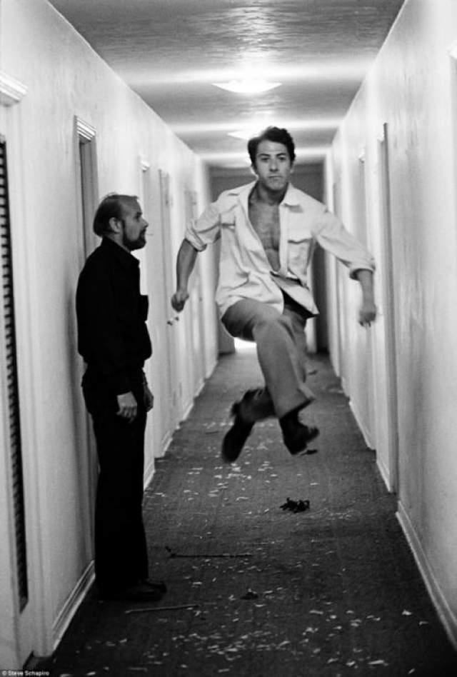 Дастин Хоффман и режиссер Боб Фосс, 1981 год