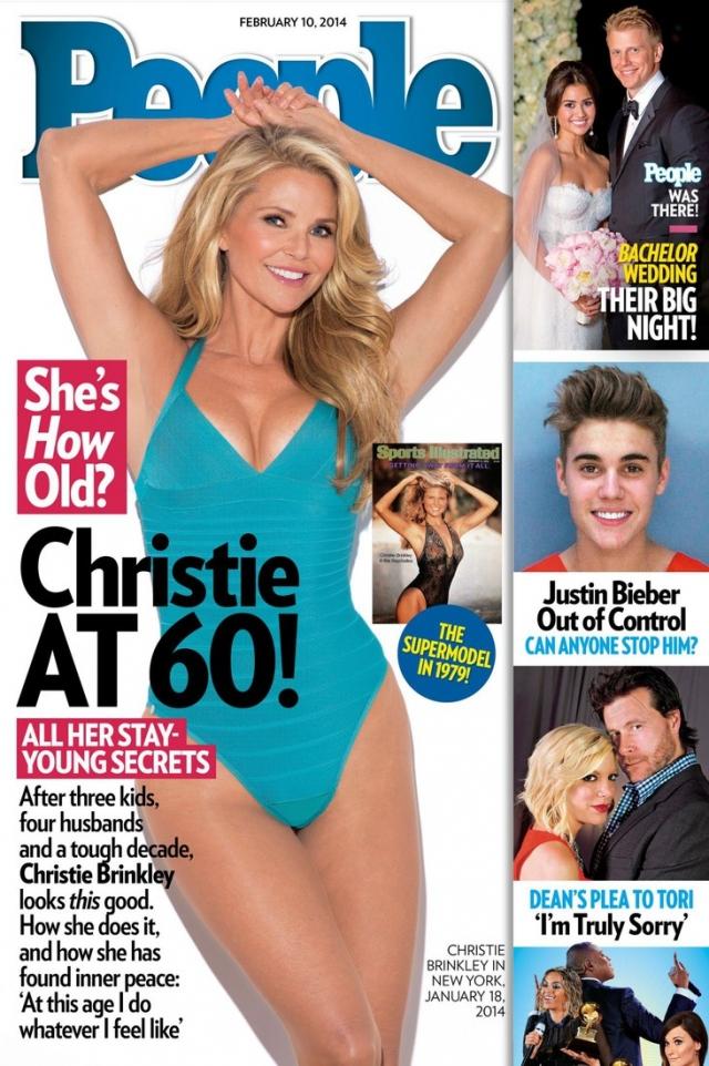 В 2014 году Кристи Бринкли и вовсе позировала в бикини на обложке американского журнала People.