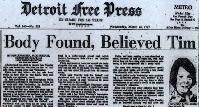 """Оклендский убийца детей. В 70-х годах в окрестностях Детройта, штат Мичиган, США, начали происходить исчезновения и убийства подростков. Неизвестного убийцу прозвали """"Бэббиситтером"""" - """"нянькой"""". За 13 месяцев на территории округа четверо детей были убиты, а их тела обнаружены в разных частях округа. Детей находили в промежуток от 4 до 19 дней после их смерти."""