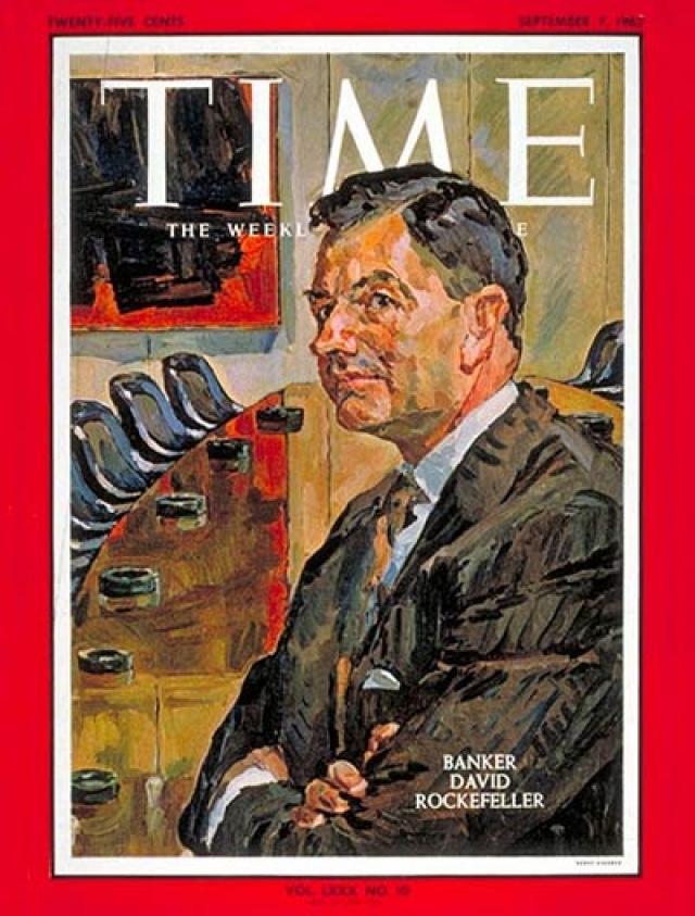 В 1962 году журнал Time помещает на обложку портрет Дэвида Рокфеллера - как одного из самых влиятельных людей в мире.